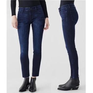 DL1961 Angel Mariner Mid Rise Dark Wash Jeans